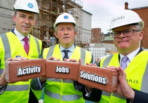 Pictured at the John Paul Construction site of The National Gallery are Michael Stone, President, CIF, Tom Parlon, CIF Director General, Dudley Solan, Partner and Head of Commercial Litigation and Dispute Resolution Group, Maples and Calder.
