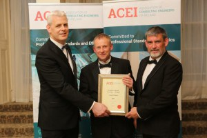 Kevin Rudden ACEI, Andrew McDermott OCSC & Louis Keating L&M Keating at the ACEI Awards.