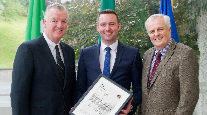 Theo Cullinane, CEO BAM Ireland, Paul Brennan, Virtual Design & Construction Manager for BAM, Ger Harrington, BAM Director.